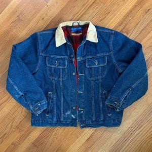 Black Canyon Flannel Lined Vintage Denim Jacket